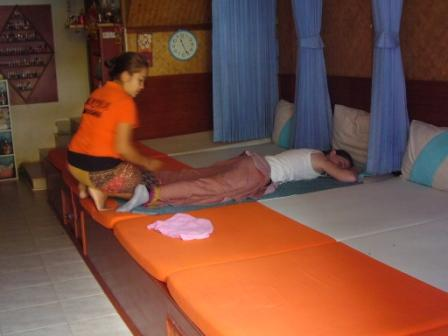 Lali in her Thai Massage session in Koh Phi Phi