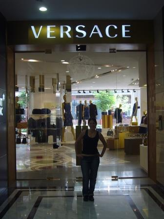 Lali in Versace hoping to get a dress!