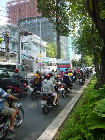 Motorcycles on the streets of Ho Chi Minh