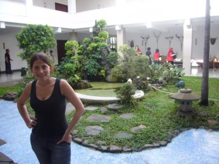 Lali in one garden of the Reunification Palace