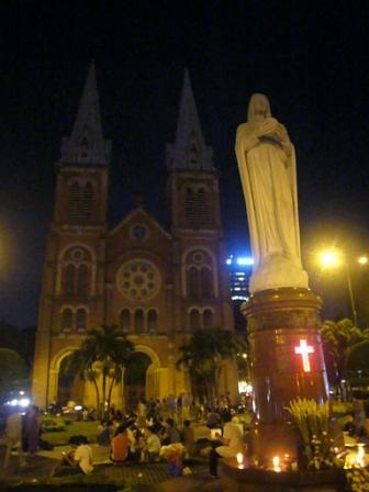 Catedral de Notre Dame de noche