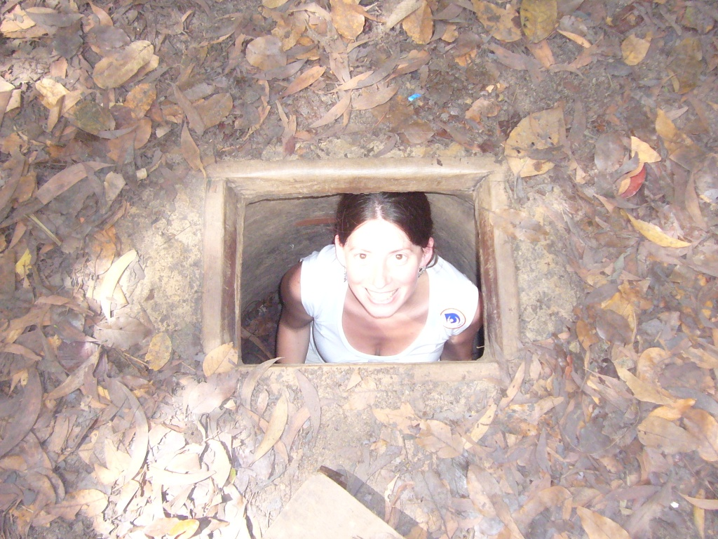 Lali inside the Cu Chi Tunnels