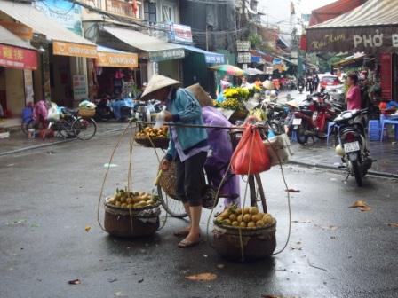 Calle típica en Hanoi