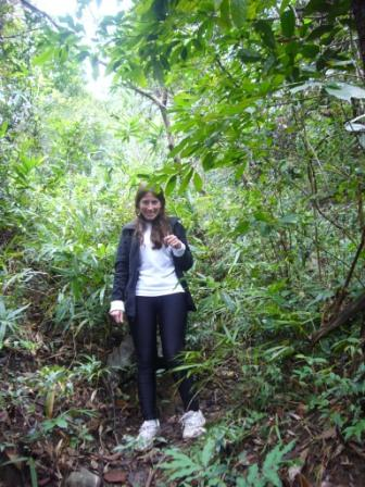 Lali trekking in the Vietnamese jungle