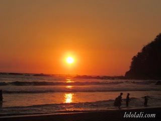 Atardecer en la costa del Pacífico, Costa Rica