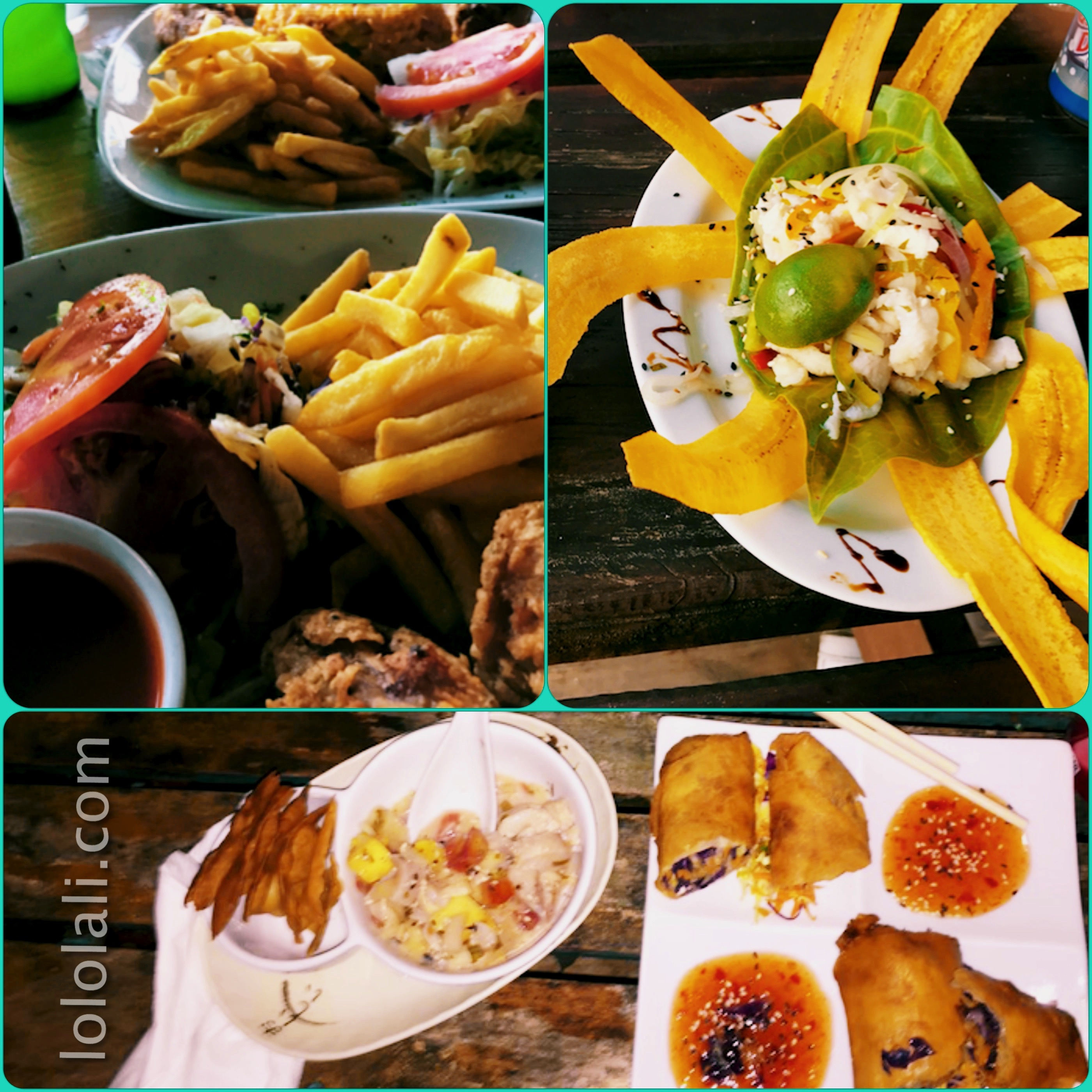 Meals from Bocas del Toro, Panama