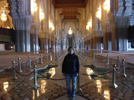 Lali inside Hassan II Mosque