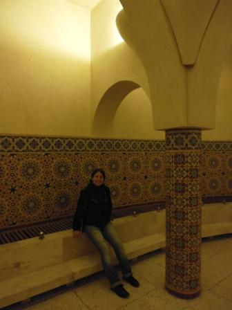 Lali in baths of Hassan II Mosque