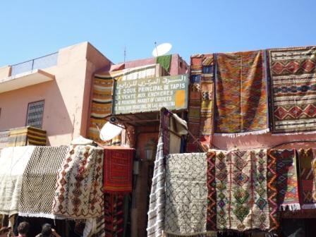 Carpet shop in the most popular Souk in Marrakech
