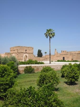 View of the Badi Palace