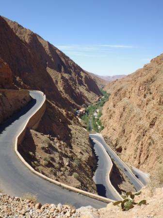 Dades gorges. The road, as you can see, is really sinuous and incredible