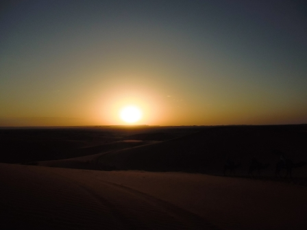 Sunset in Erg Chebbi