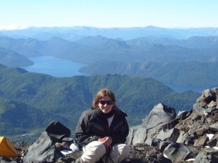 Lali y el paisaje que se observa a los 2315 msnm