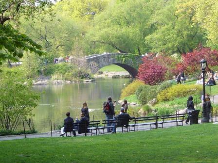 Lali en el Central Park de Nueva York
