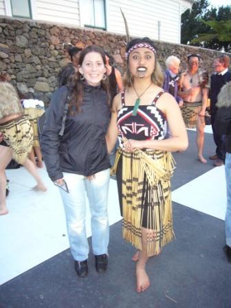 Lali con mujer maorí