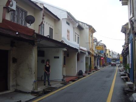 Lali y las tiendas casas en Melaka