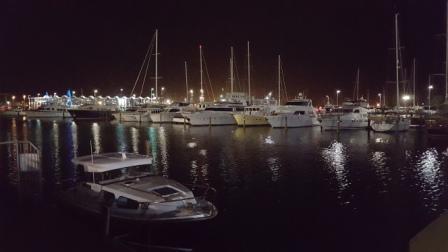Marina vista nocturna