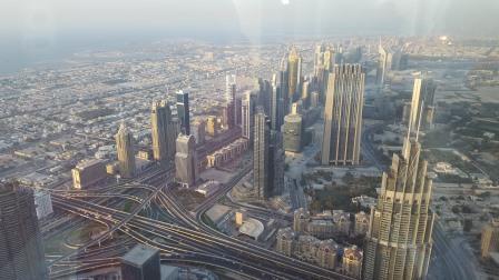 Vista de Dubai desde el observatorio del Burj Khalifa