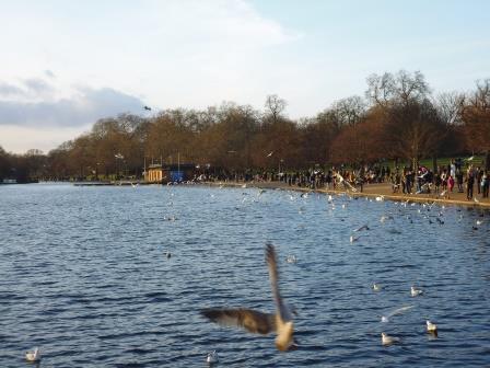 Lago Serpentine en Hyde Park