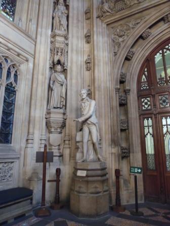 Pasillo que comunica el Salón de Westminster con el Hall que lleva a las Cámaras.