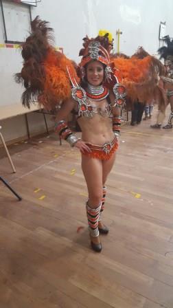 Lali por bailar para comparsa Kamarr (comparsa del Carnaval de Gualeguaychú, Entre Ríos)