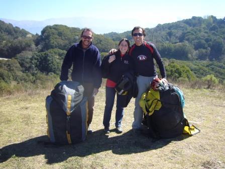 Tucumán - Cerro San Javier - Lali a punto de tirarse en Parapente