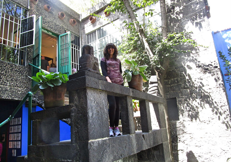 Balcony at the Blue House of Frida Kahlo