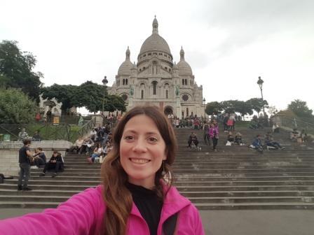 Lali y la Basílica Sacre Coeur en París