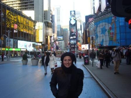 Lali en Times Square