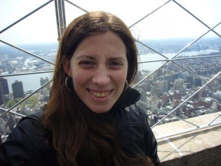 Lali en el observatorio del Top of the Rock del Rockefeller Center de Nueva York