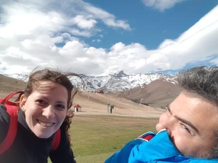 Lali en Las Leñas, Mendoza