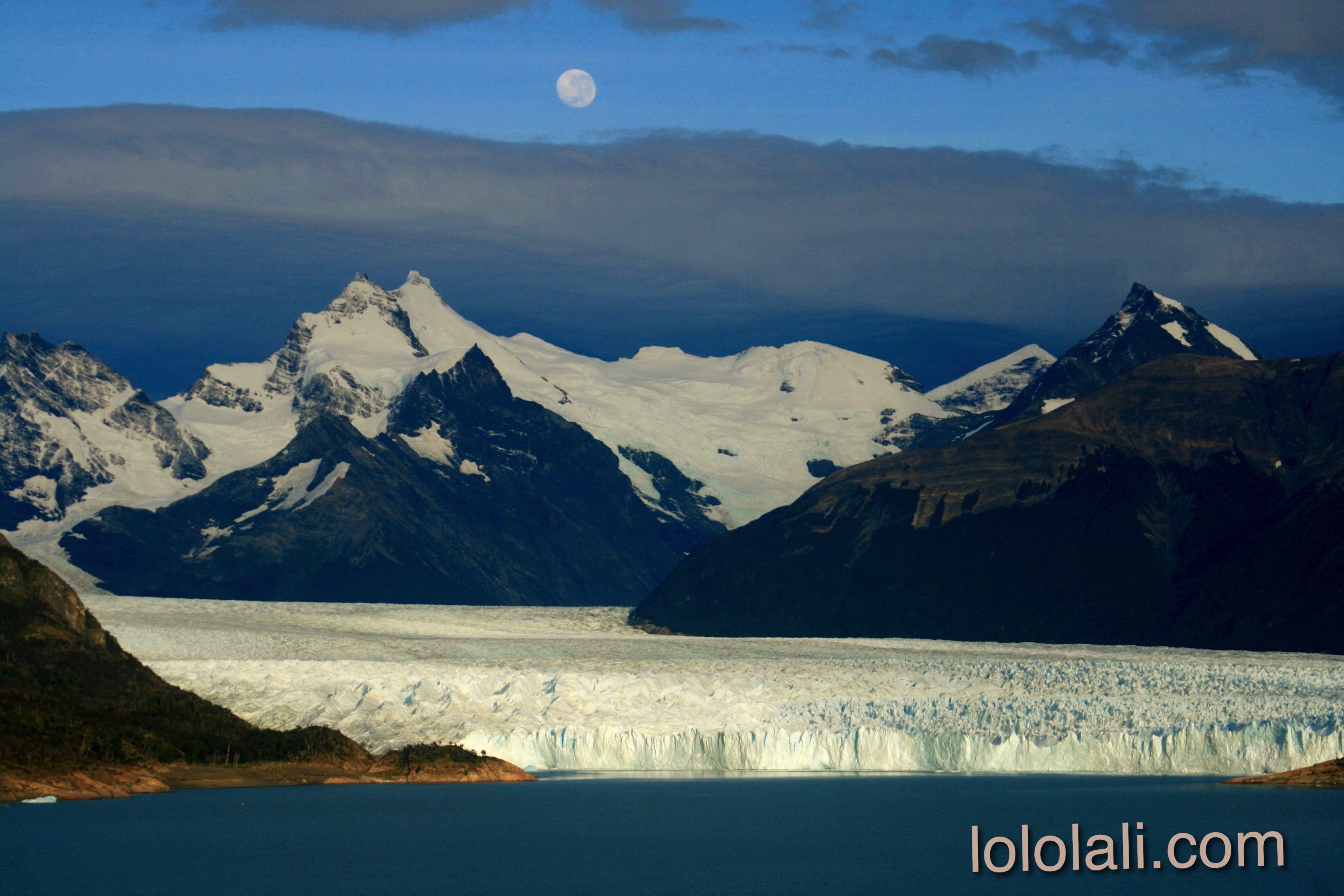 Vista panorámica del Glaciar Perito Moreno