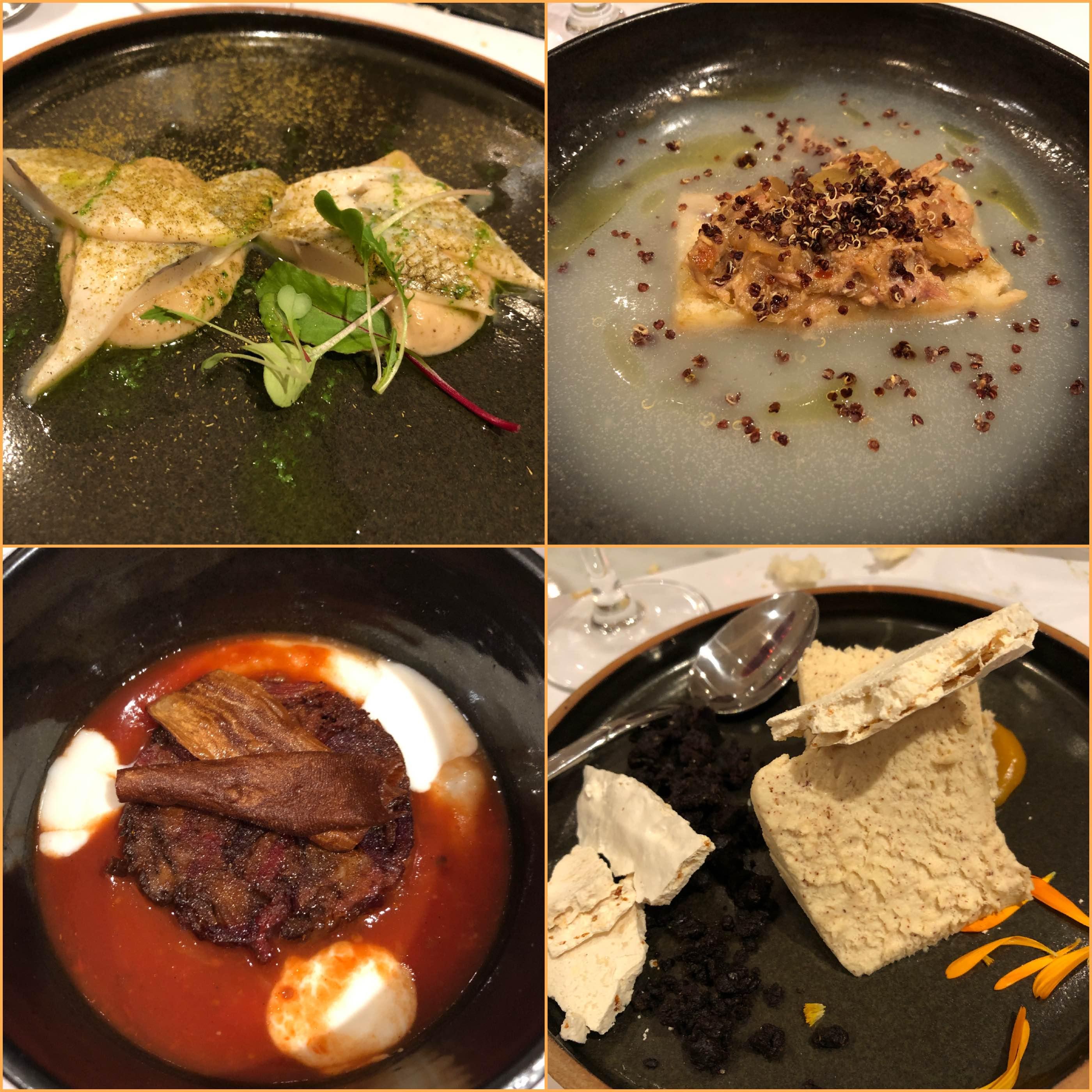 4 platos del menu del CCK