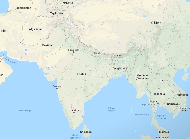 India, ubicado en el Sur de Asia es el 7mo país en tamaño en el mundo y 2do en población